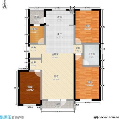 巴黎经典花园3室0厅2卫0厨157.00㎡户型图