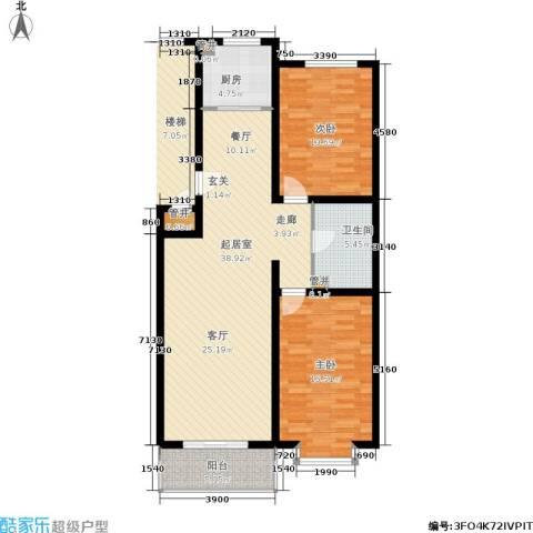 绿城叠翠园2室0厅1卫1厨121.00㎡户型图