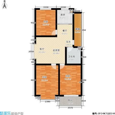 绿城叠翠园3室0厅1卫1厨135.00㎡户型图