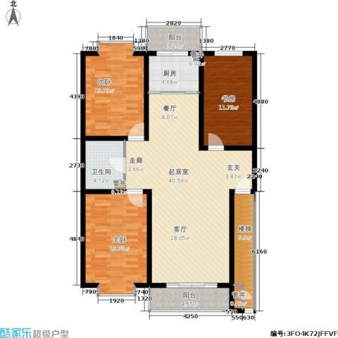 绿城叠翠园3室0厅1卫1厨149.00㎡户型图