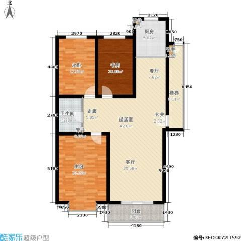 绿城叠翠园3室0厅1卫1厨150.00㎡户型图