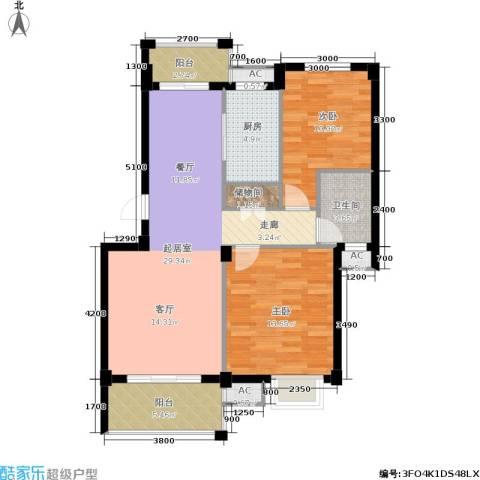 阳光新干线2室0厅1卫1厨86.00㎡户型图