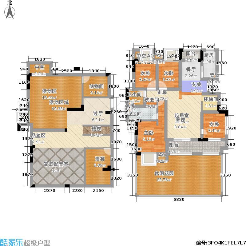 绿地国际博览城138.00㎡二期小高层A户型