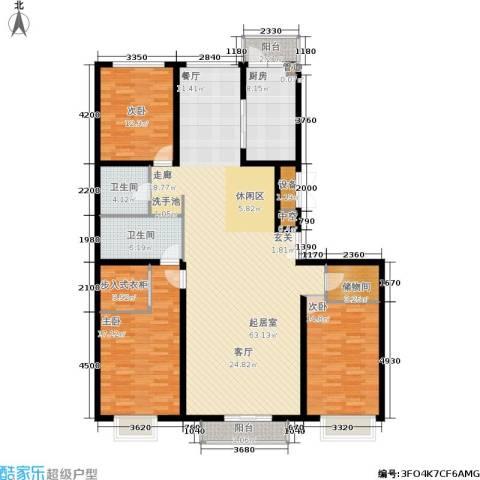 宏洋美都3室0厅2卫1厨197.00㎡户型图