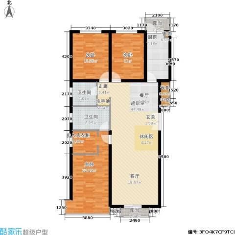 宏洋美都3室0厅2卫1厨158.00㎡户型图