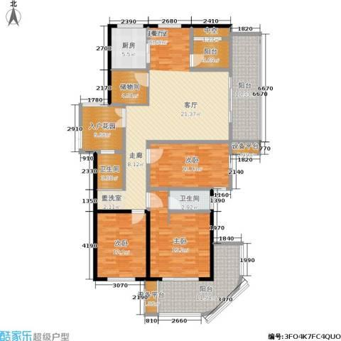 骏明国际3室0厅2卫1厨190.00㎡户型图