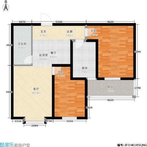 金沃向阳城2室0厅1卫1厨95.96㎡户型图