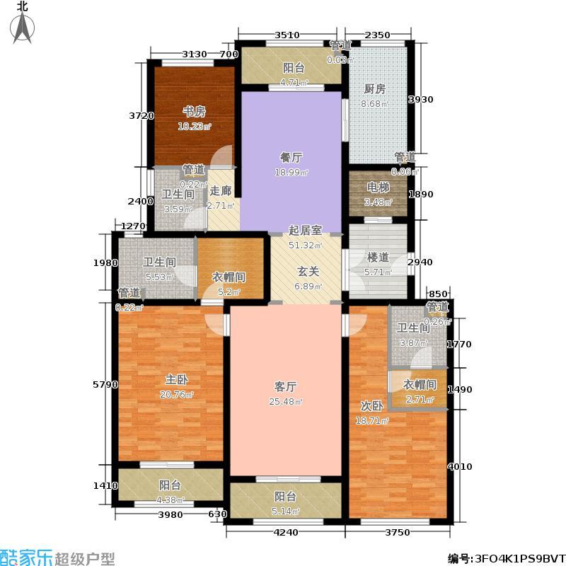 上河湾185.00㎡D2户型3室2厅