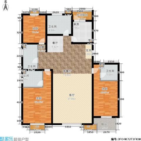 桐城中央3室1厅4卫1厨239.00㎡户型图