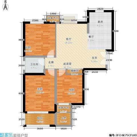 水岸豪庭东苑3室0厅1卫0厨115.00㎡户型图