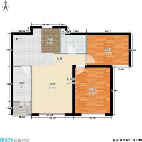 华北星城2室0厅1卫1厨95.00㎡户型图