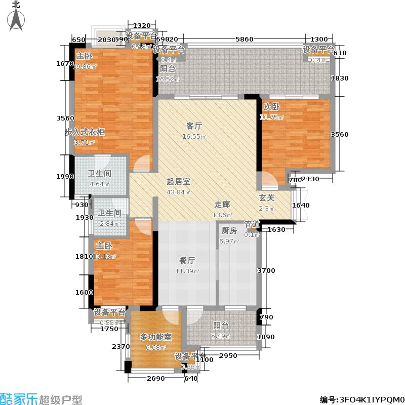 河畔新世界140.98㎡18-H户型3室2厅