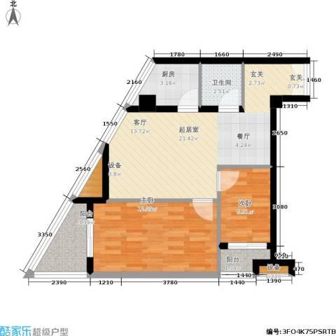 鼎晟金科凯城2室0厅1卫1厨97.00㎡户型图