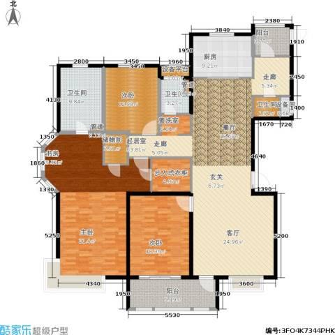 风尚米兰3室0厅3卫1厨200.00㎡户型图