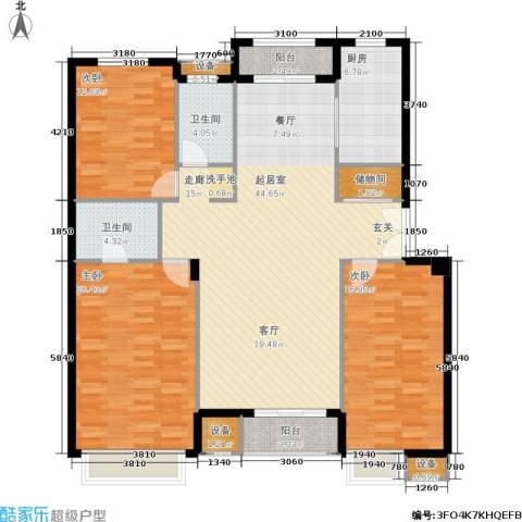 依云小镇3室0厅2卫1厨165.00㎡户型图