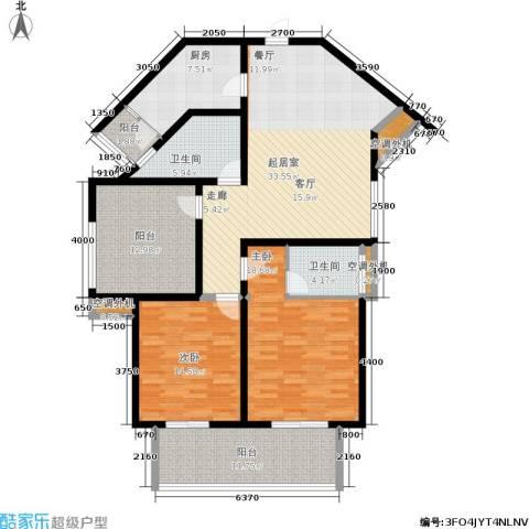 新世纪・御景花园2室0厅2卫1厨127.00㎡户型图