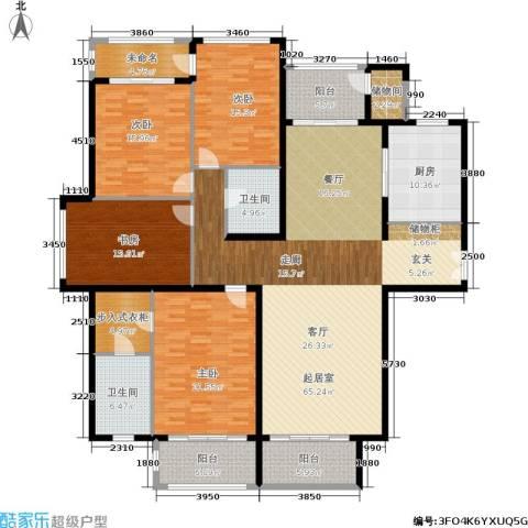 大美城翠园4室0厅2卫1厨207.00㎡户型图