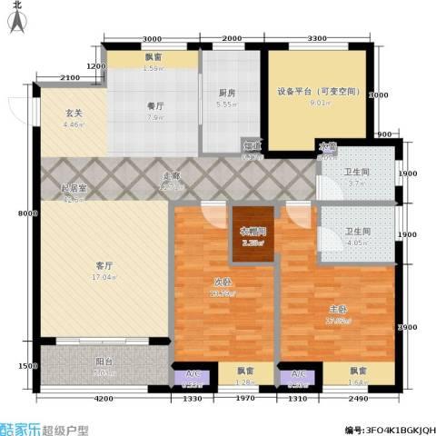 佳兆业・水岸新都2室0厅2卫1厨145.00㎡户型图