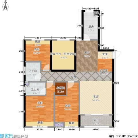 佳兆业・水岸新都3室0厅2卫1厨155.00㎡户型图