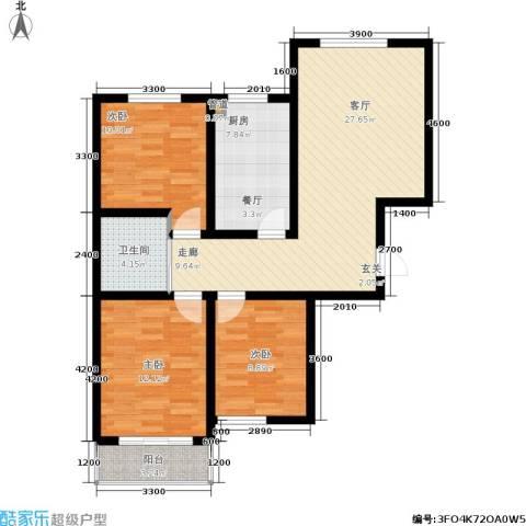 居然嘉园3室1厅1卫1厨107.00㎡户型图