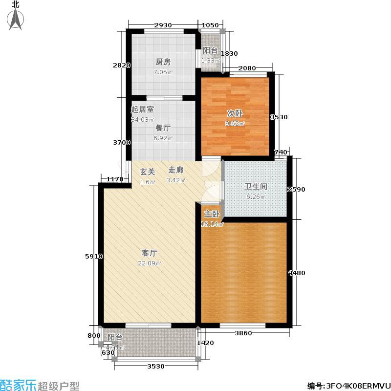 龙城天居园三期精寓89.00㎡房型户型