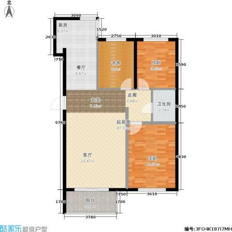 华北星城3室0厅1卫0厨122.00㎡户型图