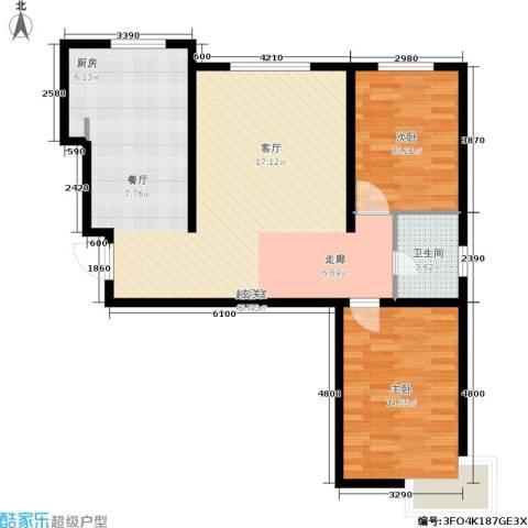 华北星城2室0厅1卫0厨100.00㎡户型图