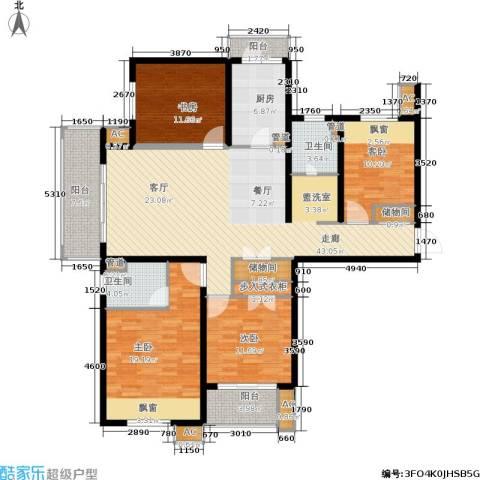 保利湖畔阳光苑4室0厅2卫1厨150.00㎡户型图