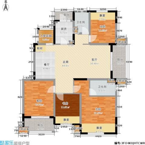 保利湖畔阳光苑4室0厅2卫1厨160.00㎡户型图