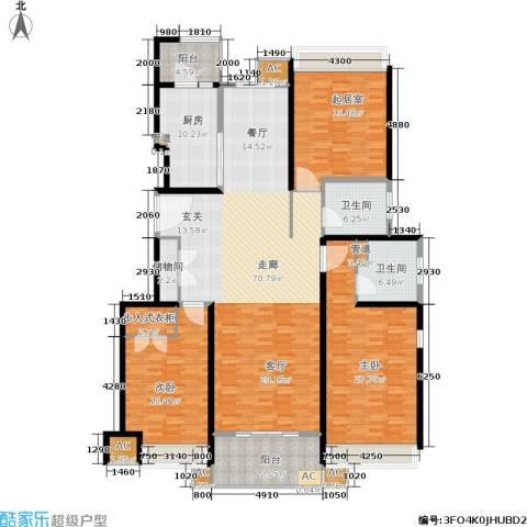 保利湖畔阳光苑2室0厅2卫1厨257.00㎡户型图