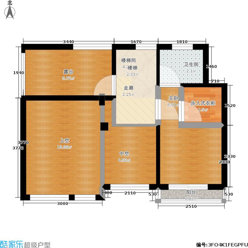 海亮珑园42.00㎡1#、2#、3#、4#洋房F地下室户型