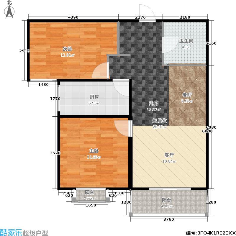 天顺家园92.13㎡G2户型2室2厅