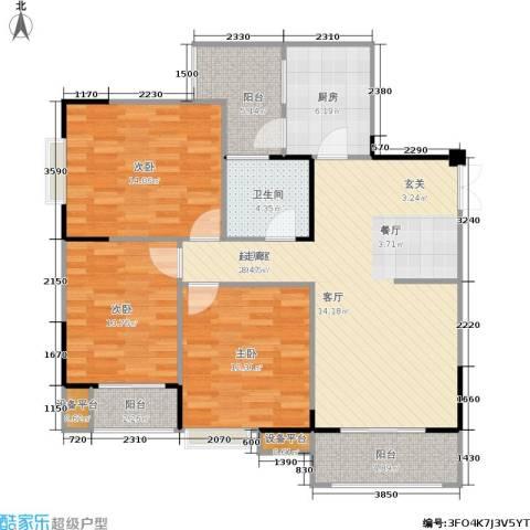 春天印象3室0厅1卫1厨112.00㎡户型图
