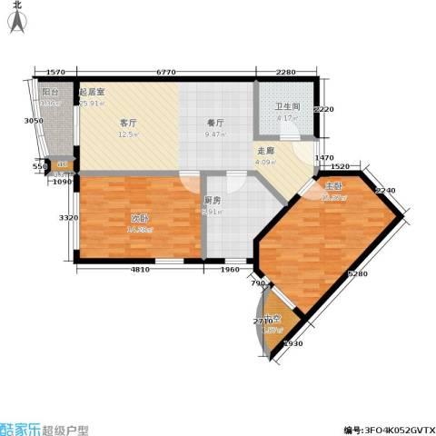 清芷园2室0厅1卫1厨103.00㎡户型图