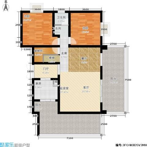 嘉来涪滨印象2室0厅1卫1厨222.00㎡户型图