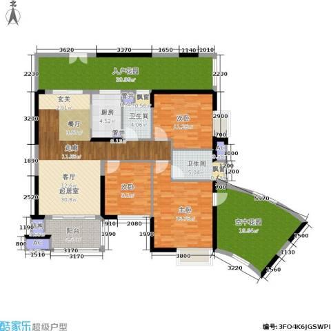 星际豪庭3室0厅2卫1厨128.00㎡户型图