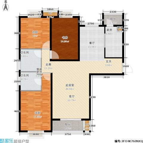 园丁小区3室0厅2卫1厨132.04㎡户型图