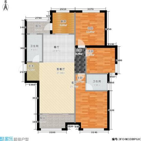 凤凰水城3室1厅2卫1厨135.00㎡户型图