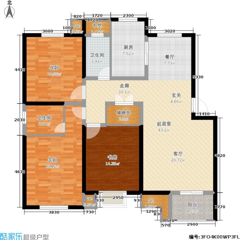 天华绿谷庄园128.00㎡B12面积12800m户型