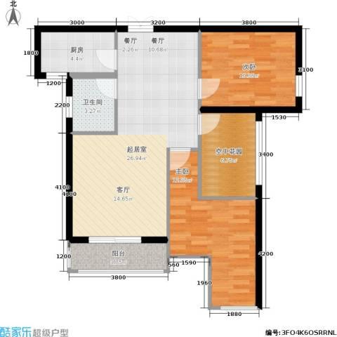 红树湾2室0厅1卫1厨95.00㎡户型图