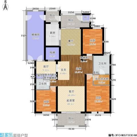 大美城翠园3室0厅2卫1厨162.00㎡户型图