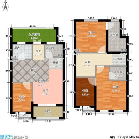 新宏・香榭丽舍4室0厅3卫1厨105.00㎡户型图
