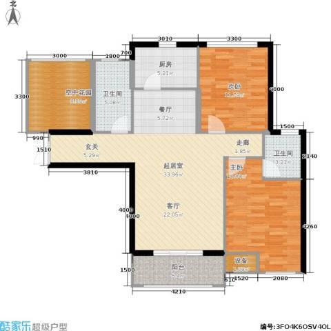 红树湾2室0厅2卫1厨124.00㎡户型图