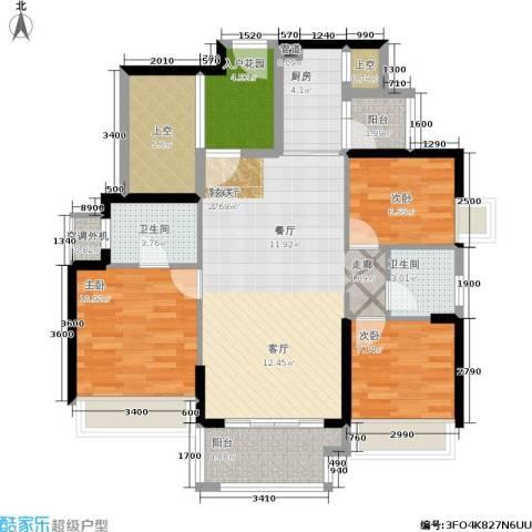 风临美丽湾3室1厅2卫1厨119.00㎡户型图