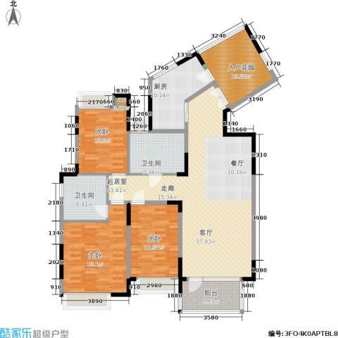 亲亲家园3室0厅2卫1厨169.00㎡户型图