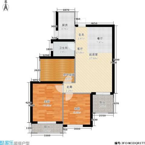 红树湾2室0厅1卫1厨85.00㎡户型图