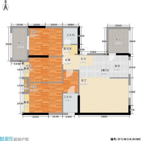 上东曼哈顿3室0厅2卫0厨119.00㎡户型图