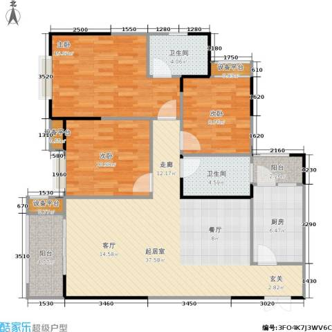 春天印象3室0厅2卫1厨121.00㎡户型图