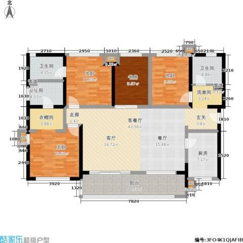 万科公园里4室1厅3卫1厨143.21㎡户型图