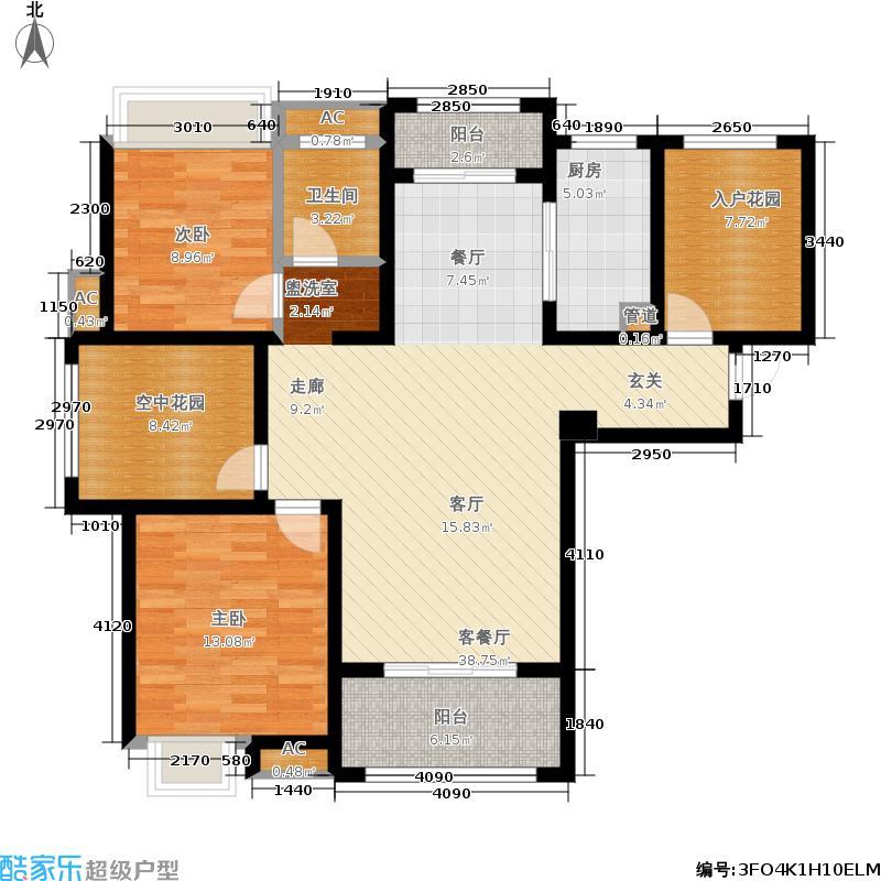 海亮官邸112.00㎡海亮・官邸A4户型